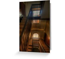 Upstairs Downstairs - Hyde Park Barracks -The HDR Experience Greeting Card