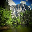 Yosemite falls in the afternoon by Crystal Fobare