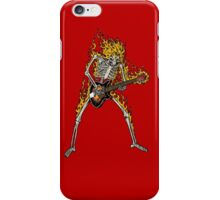 Flame Skeleton Dead Electric Guitar Player iPhone Case/Skin