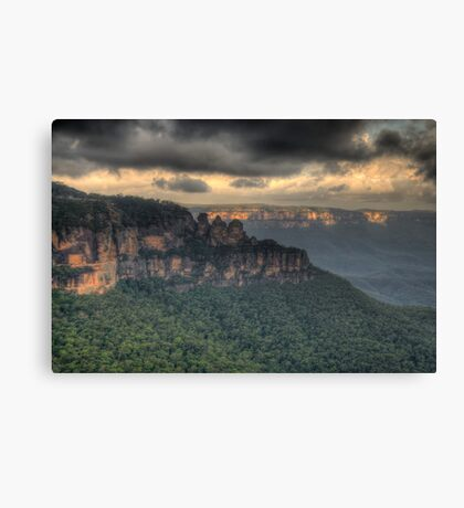 Icons - Jamison Valley, Katoomba Blue Mountains World Heritage Area - The HDR Experience Canvas Print