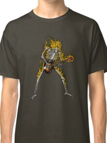 Flame Skeleton Dead Electric Guitar Player Classic T-Shirt