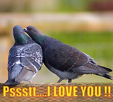 psst... i love you card by dedmanshootn