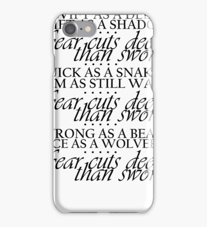 Game of Thrones Arya Fear Cuts Deeper Than Swords iPhone Case/Skin