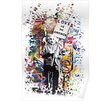 Albert Einstein Genius Banksy Inspiration Graffiti Street Art Mashup  Poster
