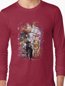 Albert Einstein Genius Banksy Inspiration Graffiti Street Art Mashup  Long Sleeve T-Shirt