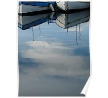 Boat reflection Poster
