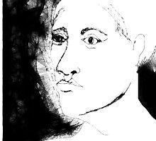 female head -(130111)- the scribbler computer program by paulramnora
