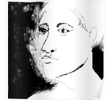 female head -(130111)- the scribbler computer program Poster