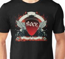 Rock and Roll Guitar Pick Wings Unisex T-Shirt