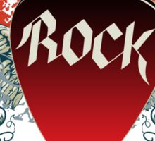 Rock and Roll Guitar Pick Wings Sticker