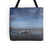 Pelican Beach Tote Bag