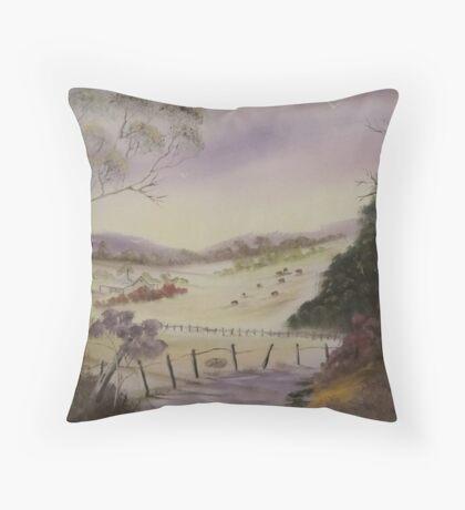 Cattle Farm-Australia Throw Pillow