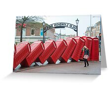 Lean on Me: Telephone Boxes: Kingston, UK. Greeting Card