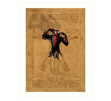 Vitruvian Spiderman Art Print