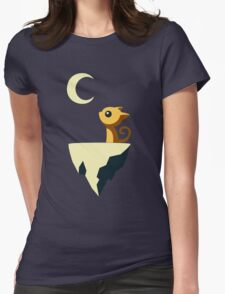 Moon Cat Womens Fitted T-Shirt