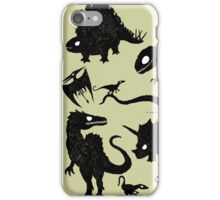 Silhouetted Dinosaurs iPhone Case/Skin