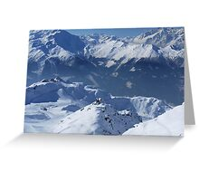 Awe-Inspiring Verbier Greeting Card