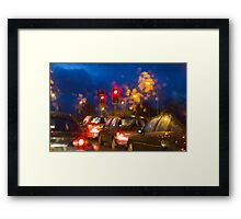 Through the windscreen Framed Print
