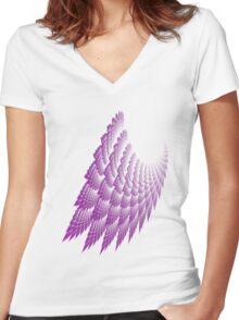 MAUVE LACE  Women's Fitted V-Neck T-Shirt
