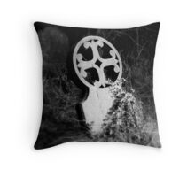 Gravestone in Wragby Old Cemetary Throw Pillow