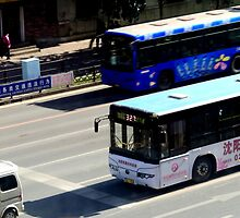 Buses, Shenyang, China by littleinca