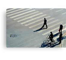 Street Crossing, Shenyang, China Canvas Print