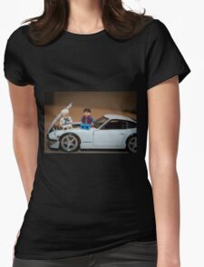 Doc and Marty on a Z Womens Fitted T-Shirt