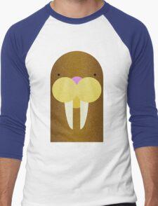 Peekaboo Walrus Men's Baseball ¾ T-Shirt