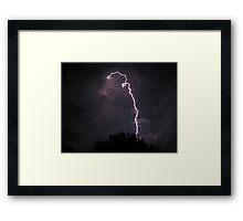 Tampa Lightning Framed Print