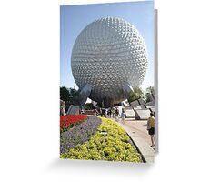 Walt Disney World Epcot Spaceship Earth Greeting Card