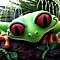 WDW Animal Kingdom Rainforest Cafe Frog by chewi