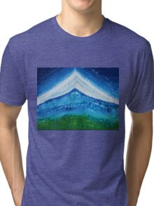 Upper World original painting Tri-blend T-Shirt