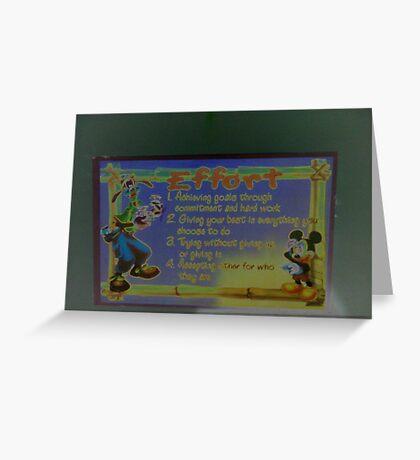 efforts Greeting Card