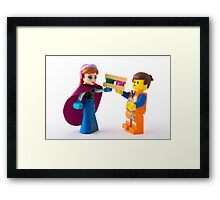 It's like we finish each other's… Sandwiches Framed Print