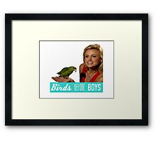 Birds Before Boys Framed Print