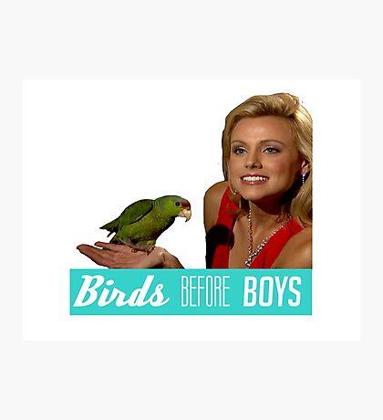 Birds Before Boys Photographic Print