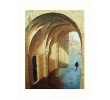 Arches, Santiago de Compostela, Spain Art Print