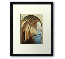 Arches, Santiago de Compostela, Spain Framed Print