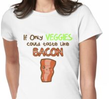 veggie bacon Womens Fitted T-Shirt