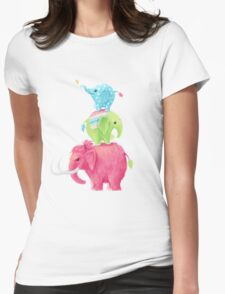 Elephants Womens Fitted T-Shirt