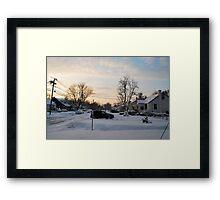 Suburban Winter 2011 Framed Print