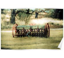Old Farm Equipment - Springtown Texas Poster