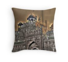 Red Fort Delhi.. Throw Pillow