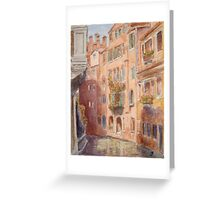 Canal, Venice, Italy Greeting Card