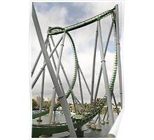 Islands of Adventure Hulk Rollercoaster Poster