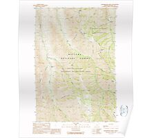 USGS Topo Map Oregon Fingerboard Saddle 279859 1990 24000 Poster