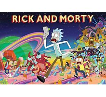 Rick And Morty..........And Monsters Photographic Print