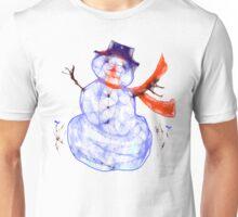 Scribbler Snowman.Tee Unisex T-Shirt