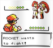 Pokemon Generation I - Team Rocket wants to fight! Poster