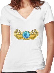 CSGO Pixel Series | Global Elite Women's Fitted V-Neck T-Shirt
